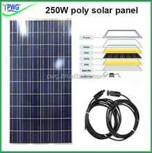 House power solar panel kit 5000w use 20pcs high efficiency polycrystalline solar panel 250W
