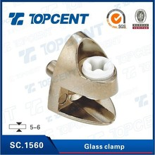 [SC.1560] Glass thickness 5-6mm zinc alloy furniture glass clamp