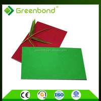 Greenbond aluminium cladding sheet cheap prices of external wall foil decoration in taizhou