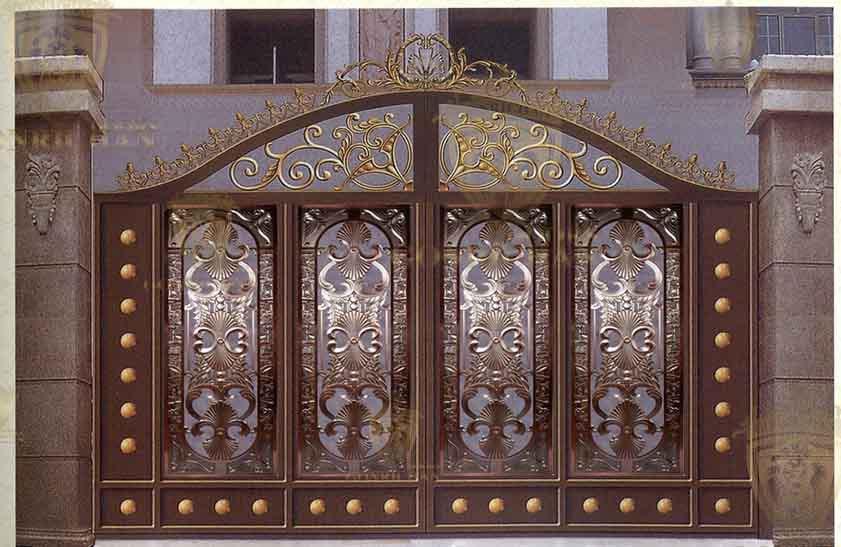 Avant mod les de portes fer forg villa porte designs porte ext rieure patio1 portes id de for Porte villa en fer