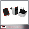 LOGO Customized 5V 2.4A dual port usb wall charger,super fast mobile phone charger with built-in smart IC