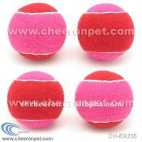 Red and Pink Tennis Ball