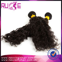 One donor 22'' Curly Wave 5a Most Healthy fashionable wholesale indian hair in india