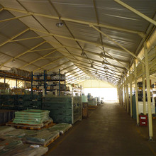 20x50m Span Fireproof Steel Structure Industrial Tent For Store