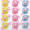 Latex nipple pacifier 12pcs in blister card