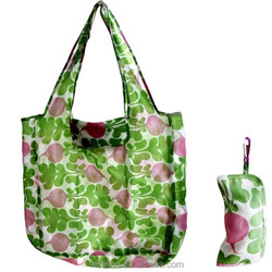 Customized printing nylon folding tote bag, nylon foldable shopping BAG