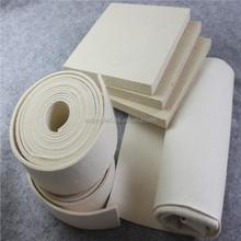 white 100% wool felt fabric