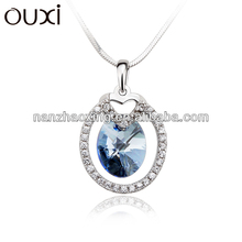 Latest fashionalbe letter p 925 silver pendant jewelry &ouxi jewelry made with Swarovski elements only pendant