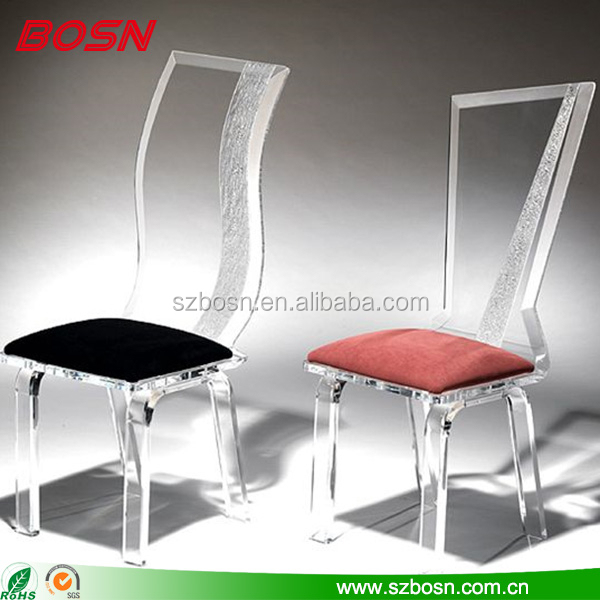 hot selling clear lucite acrylic modern chair perspex chair supplier