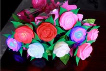 led light for wedding centerpiece/ led lights for weddings/Artificial rose flower led lights