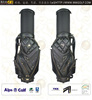 Helix genuine leather golf cart bag with wheels / real leather golf stand bags with wheels