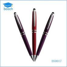 hot selling crystal pen metal twist ball pen slim