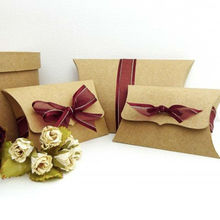 Custom Print Corrugated Recycled Kraft Paper Pillow Boxes wholesale