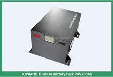 Hot Sale!!! TOPBAND 24V 200Ah LiFePO4 Battery Pack