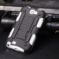 Factory Wholesale,Future Armor Impact Holster Kickstand Combo Protector Case for Samsung Galaxy Note 2 N7100,For Note 2 Case