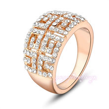 engrave ring 2016 crystal 16k gold plated models rings for women