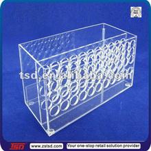 TSD-A412 Custom shopping mall table top clear acrylic make up organizer/acrylic lipstick organizer/nail polish organizer