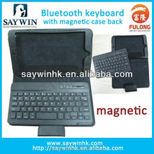Delicate Leather tablet cover case with bluetooth keyboard in Multi-language