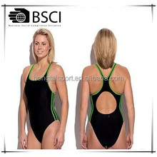 Customized Sport Swimwear performance GYM beachwear one pc sexy lady swim wear
