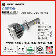 NSSC Factory Original Design high power led headlight bulb h7, Error Free car led headlight 38w 4500lm headlight tuning light