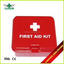 Mini square green custom mini first aid kit for car,travel,hotel
