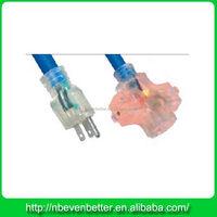 China cheap 3 pin flat extension cord under carpet