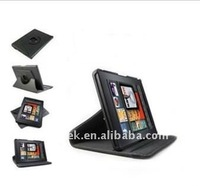 Rotating Stand leather case for amazon Kindle fire, for amazon kindle fire case