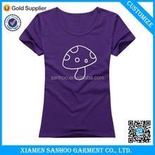Eco-Friendly Fast Delivery Good Qualtiy Charming Short Sleeve Round Neck Tight Simple Hot Girl Image T Shirt