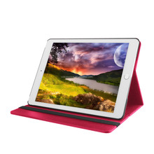 new arrival leather case for ipad air2,for ipad 6 pu leather printing case,stand hand made with card slot