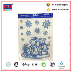 Christmas Decor Removable Glitter Window Static Cling Decals