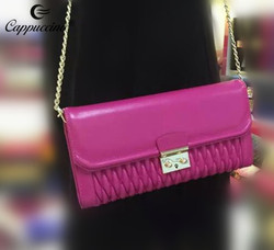 2016 Fashion Leather woman clutch bag / cross body bag in stock