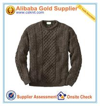 european style sweaters for men leather sleeve sweater made in China