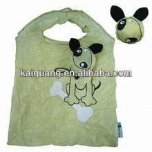 2014 animal shape polyester folding shopping bag