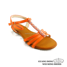 top quality best price small wedge open toe T-strap ankle strap nice design ladies sandals