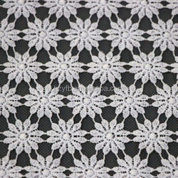 HangZhou famous white cotton lace embroidery fabric/Allover embroidery laces designs in packistan