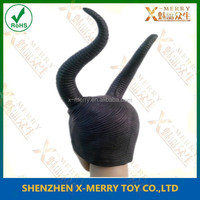 X-MERRY evil queen Halloween Costume props lady Maleficent Disguise wonderful cosplay Black long Horns