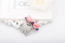 Best selling fashion plastic kids/girls/children princess 7 fork hair comb ornament