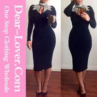 2014 Wholesale Black Sexy Short Bodycon Dress free patterns evening dresses