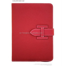 Book Case Style Leather Case For Ipad Mini With Handstrap HH-IPM03(31)