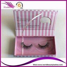 100% real mink eyelash with private label custom box