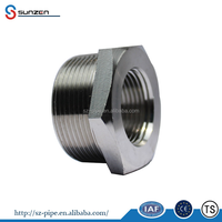 asme pipe fitting reducer class 3000 threaded hex head bushing eccentric