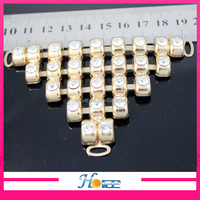 9*8cm Wholesale customized triangle rhinestone shoe jewelry accessories