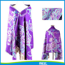 high quality flower pattern cashmere poncho