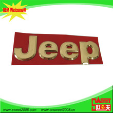 Etiqueta tridimensional adhesiva de color oro para coches