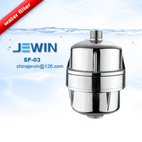 Electroplated KDF shower water filter to remove Chlorine