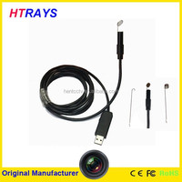 2MP pixel waterproof 5M snake tube 9mm usb inspection camera with 1600x1200 resolution 6LED lights for industry inspection