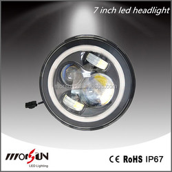 led car head lamp white, blue, amber, red, green angel eyes available