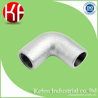 malleable iron galvanized metric 90 rigid steel conduit screwed elbow fittings for pipe