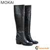 206303 BROWN new arrival women thigh high boot italian leather made