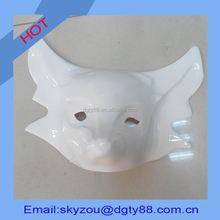 oem factory thermoforming thick blister wolf shape white plastic masks